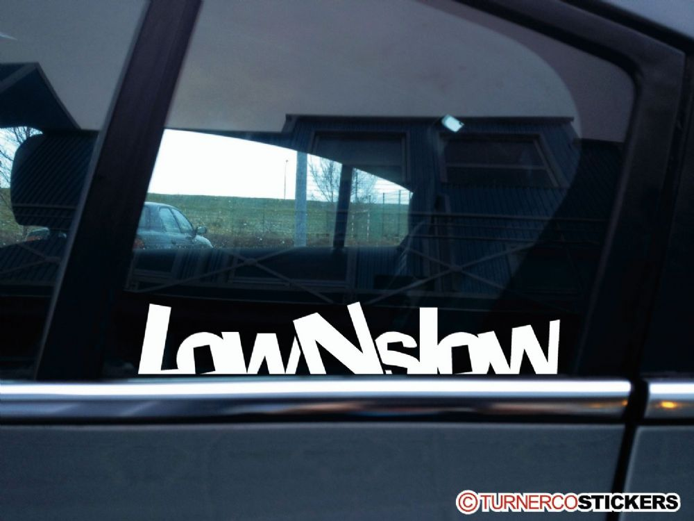 Low N Slow Lowered Stanced Car Sticker V1